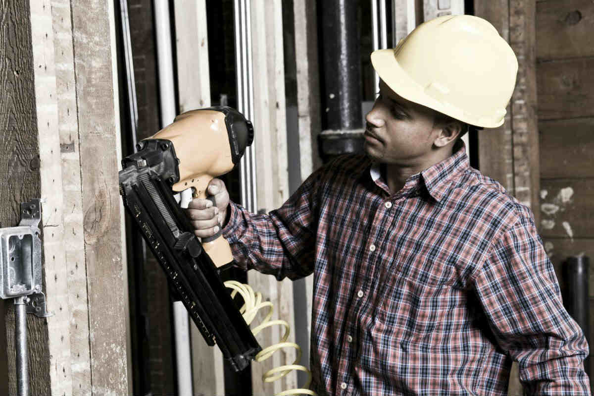 work injury nail guns St. Louis