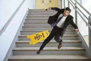 staircase injury worker comp