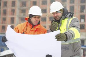 Winter construction work