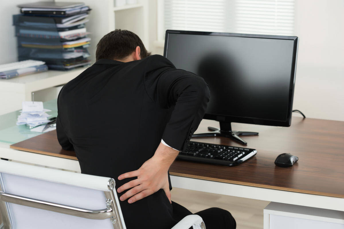 office worker back pain