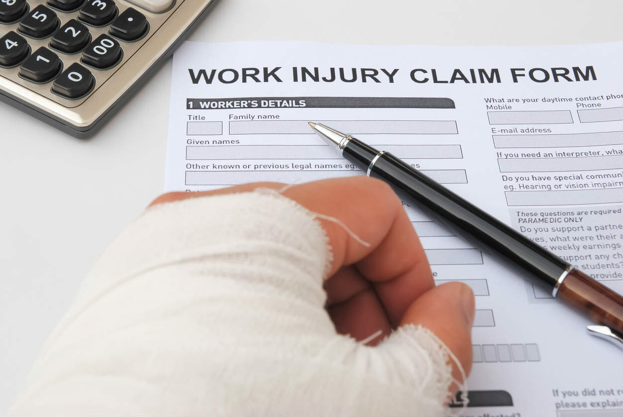 filing out work injury form