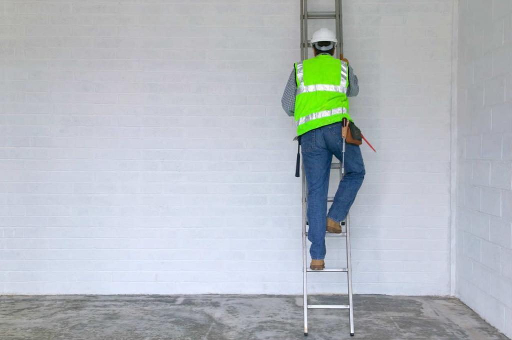 missouri worker climbing a ladder