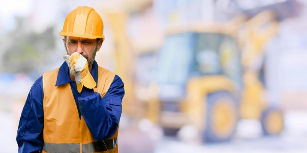 man exposed to chemicals on the job