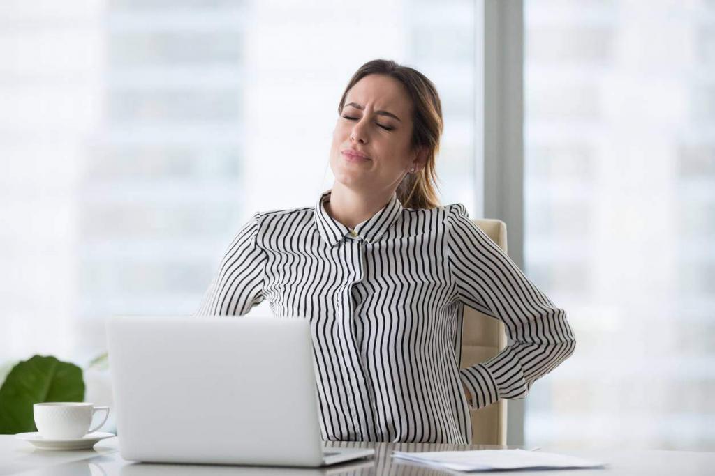 back injury caused by poor ergonomics