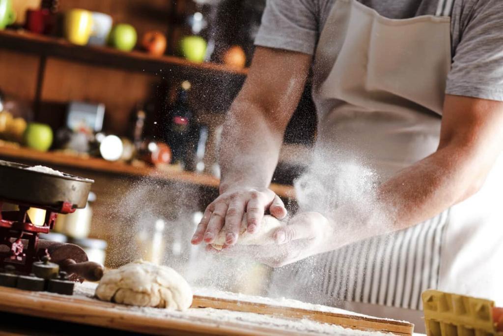 st. louis man working as a baker