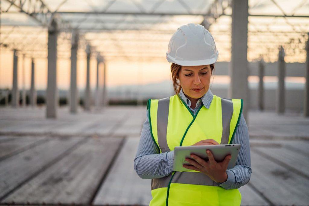 female worker on Missouri job site