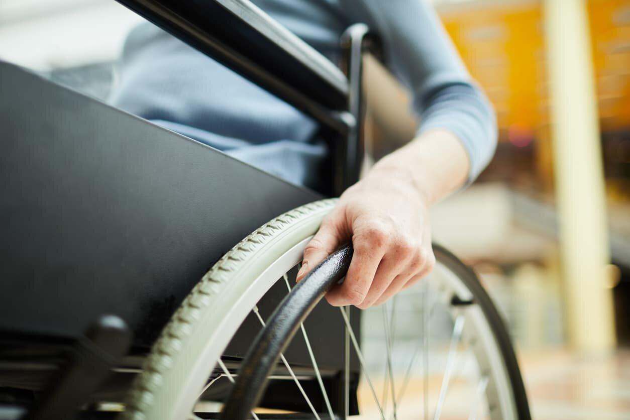 injured worker in wheelchair