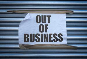 out of business sign